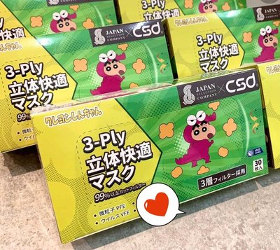 中衛 CSD x 蠟筆小新 口罩 香港 日本 限定 クレヨンしんちゃん 聯名款 香港口罩 卡通口罩