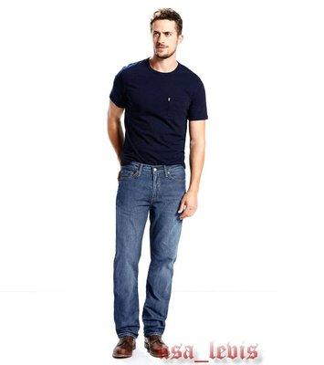 【新款29-42腰優惠】美國獨賣LEVI S 505 Rooster 重磅 仿舊石洗藍 經典中直筒牛仔褲 丹寧褲501