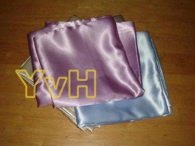 DR==YvH==PillowCase Silk 台灣長纖絲緞 薰衣紫.水藍 絲緞信封型薄枕套一個 台灣製造精品(現貨)