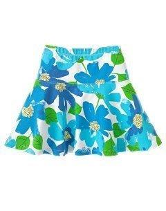 (((出清特價))) 全新 ~ GYMBOREE 藍色花朵彈性棉飛舞圓裙 (3,5,7)
