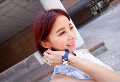 ☆Sweet Dream☆時尚氣質流行款顯色粉紅唇珍珠2用耳環大力丸 55元 正韓直送 韓國代購 滿399免運