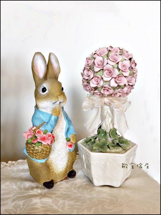 Cosmos 白色玫瑰花盆陶瓷音樂鈴 純手工製作音樂盒 玫瑰花擺飾品藝品收藏品祝賀送禮品裝飾瓷器工藝品【歐舍傢居】