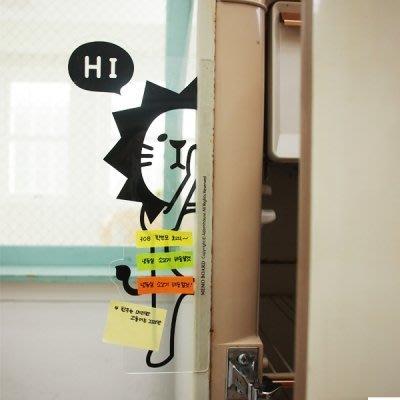 ❅PAVEE❅ 【現貨】韓國Adorn House~ ANi Hide 躲貓貓 萌系動物辦公桌面整理螢幕透明留言板~獅子