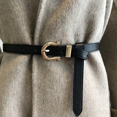 腰鏈皮帶 金屬 針釦 簡約 皮帶 細皮帶 腰帶 【UD008】