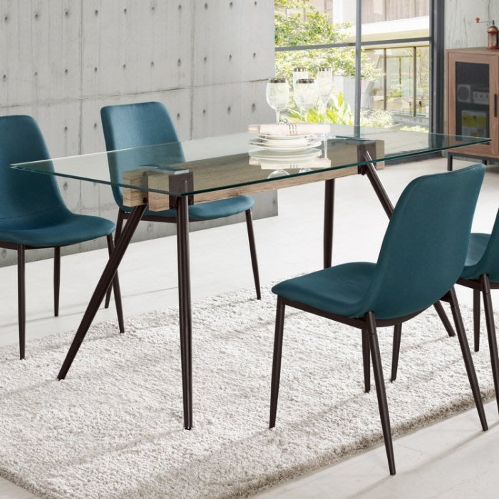 【DH】商品編號G988-1商品名稱蓓沙5尺玻璃餐桌(圖一)不含椅。居家休閒工商洽談桌營業用。多方位使用。主要地區免運費
