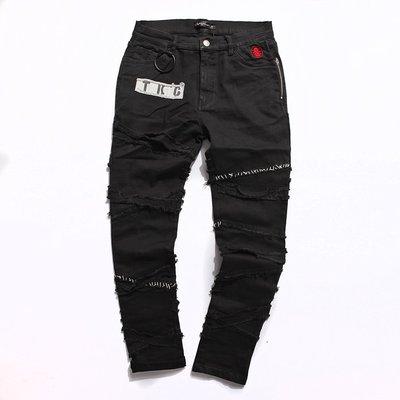 美國東村【SLIGHTLY NUMB】RETRO HELL PANTS 復刻 日線 貼布 縫線 窄褲