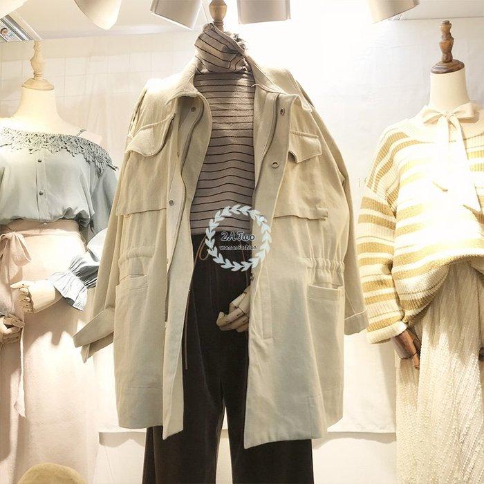 【2A Two】正韓✸質感 收腰 寬鬆 拉鍊 風衣 外套『381012008』