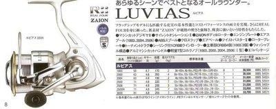 全新 DAIWA LUVIAS 2500 軟絲路亞專用捲線器 另有3000型