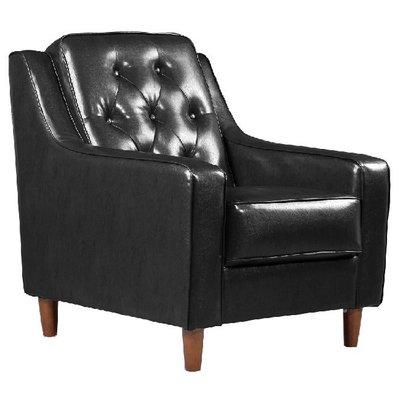 【179購物中心】新上海-百年經典復古一人沙發76cm-一人座皮沙發-黑色-單人沙發