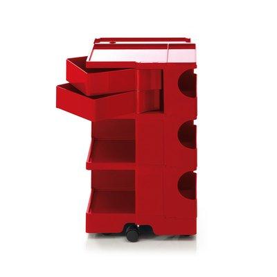 Luxury Life【正品】B-Line Boby 巴比 多層式系統 收納推車 - 高尺寸 (雙抽屜收納) 紅色款