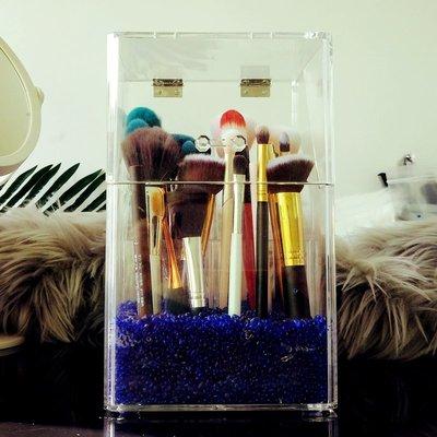 Ordinary shop超大號透明亞克力化妝刷筒 美妝刷 眉筆刷具化妝品收納盒防塵帶蓋化妝刷具 小仙女必備