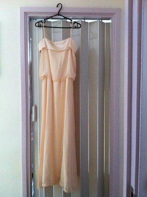 粉肉色雪紡姊妹裙(\