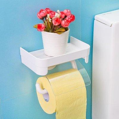 紙巾架衛生間紙巾盒免打孔吸壁式衛生紙架吸盤廁所捲紙架紙筒防水 上新特惠
