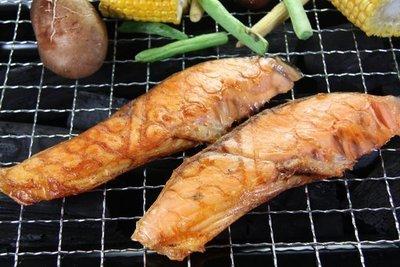 【中秋烤肉食材】來點新鮮的~烤薄鹽鮭魚切片~香氣撲鼻~營養豐富~又稱塩引鮭/鹽漬鮭魚