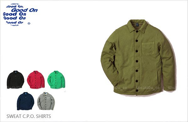 WaShiDa【gobw1103c】Good On 日本品牌 後染 CPO 軍裝 長袖 襯衫 外套