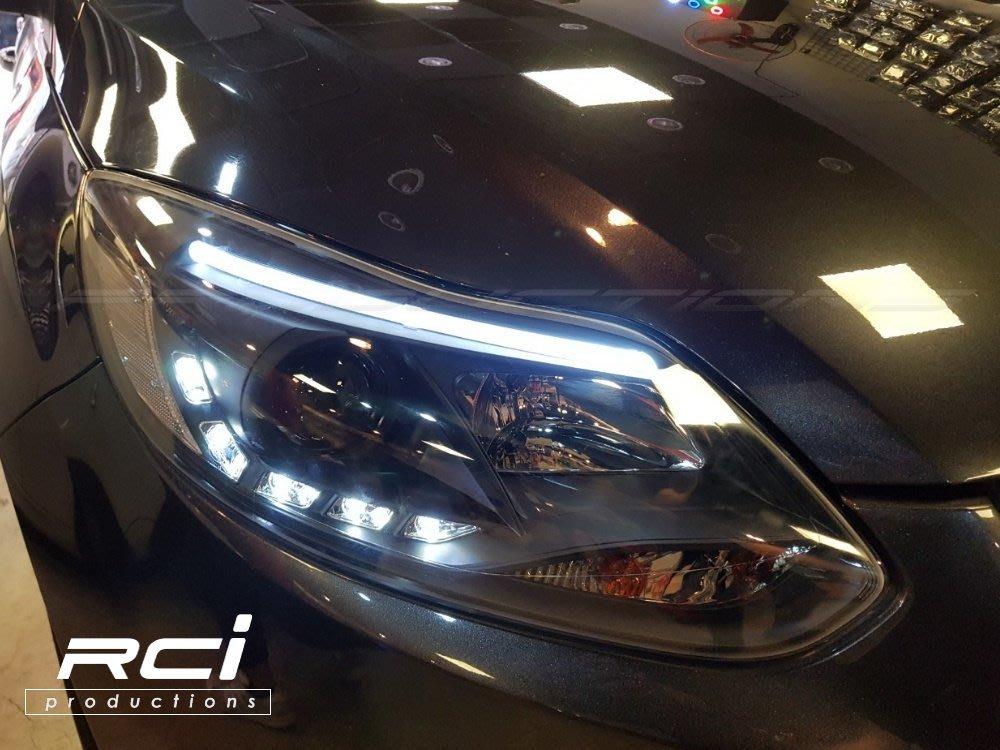 RC HID LED專賣店 2013 - 2015 FOCUS MK3 大燈 福克斯 光條 晝行燈 遠近魚眼大燈組 B