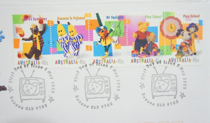(全新) 1999年-澳洲- 兒童節目 -首日封