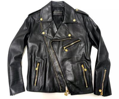 [ Satisfaction ] VERSACE凡賽斯經典羊皮騎士斜拉鍊皮衣  Made in ITALY
