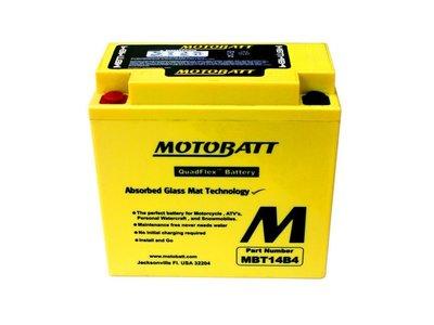 《達克冷光》MOTOBATT MBT14B4 重機電池