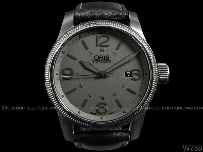 金鐸精品~W758 ORIS 豪利時 BIG CROWN 大錶冠灰色摩登44mm 自動上鍊男用腕錶