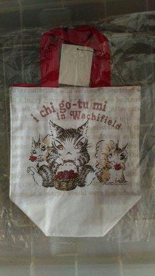 wachifield-達洋貓採草莓系列手提袋