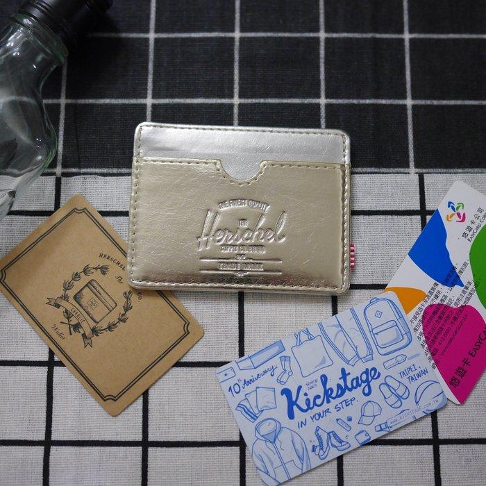 KS▸7折Herschel Charlie 金銀 壓紋 橫式 四張 卡夾 信用卡 悠遊卡 名片夾 證件套【10045】