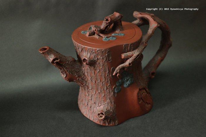 邵仲和 / 半匋 / 蒼松壺 樹樁壺 紫砂壺 約500-600ml