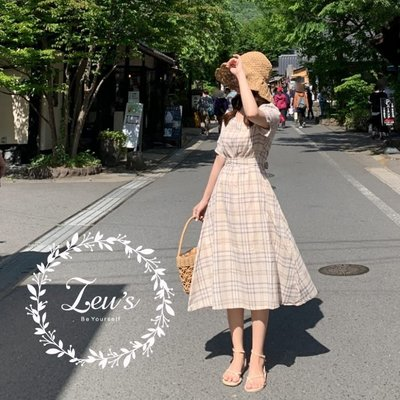 【ZEU'S】格紋復古綁帶洋裝『 05119607 』【現+預】E