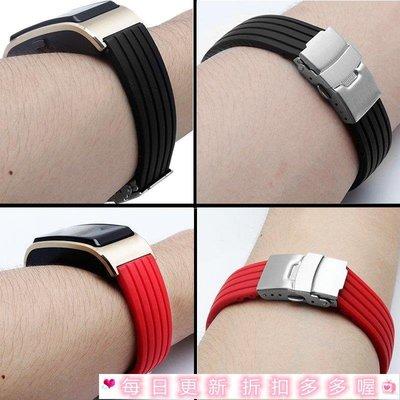 通用錶帶 鋼帶 手錶替換配件 華為手環B5硅膠錶帶防水運動智能手環腕帶折疊扣商務男女款手錶鏈錶帶錶鏈新款錶帶皮錶帶新品限時免運中