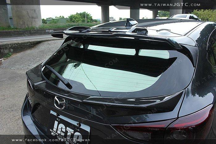 (台灣JGTC) 2015 2017  MAZDA 3 ABS 尾翼 塑膠材質 後中擾