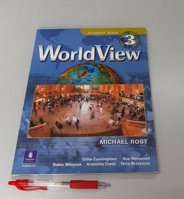 大學英語用書 聽說讀寫 文法 WorldView 3 by Michael Rost(附CD 全新 未使用)