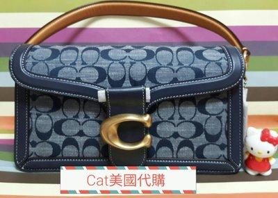 全新專櫃熱賣款 COACH Tabby丹寧真皮手提/側背/斜背包~特價$13880含運