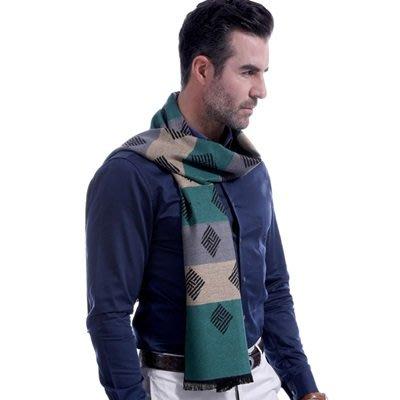 羊毛 圍 巾-英倫時尚方塊條紋秋冬防寒男女披肩3色73ts15[獨家進口][米蘭精品]