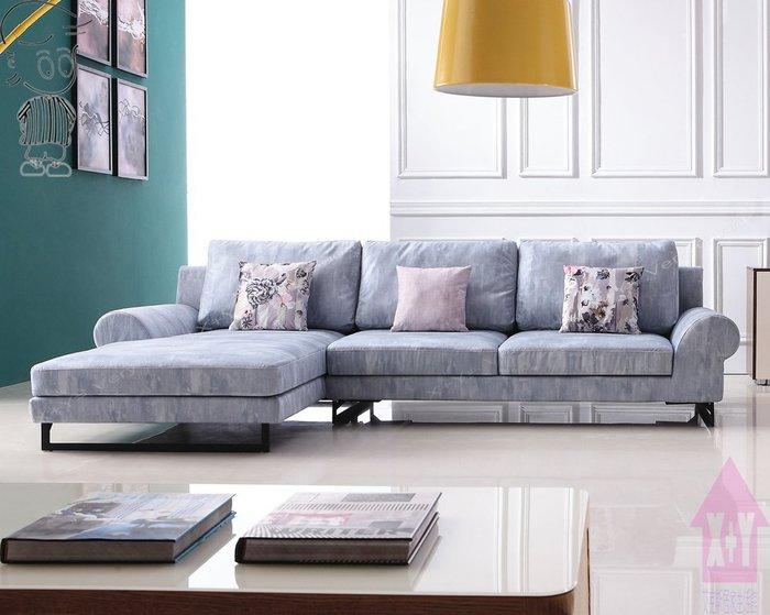 【X+Y時尚精品傢俱】現代沙發系列-卓瑪 L型布沙發.左右方向皆有提供.摩登家具