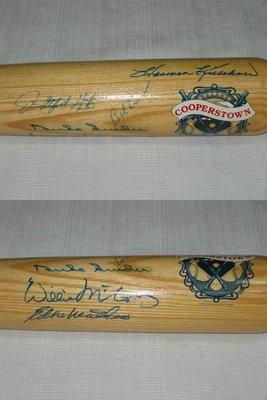 六位名人堂~Hunter、Mathews、Lemon、Killebrew、McCovey、Snider 親筆簽名球棒 JSA 認證
