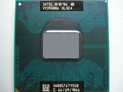 【含稅】Intel Core 2 Duo Mobile T9550 2.66G 雙核 35W 正式CPU 一年保