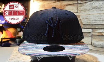 New Era MLB Yankees Blue on Blue Color美國大聯盟紐約洋基藍底藍字彩色帽簷後扣棒球帽