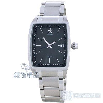 CK Calvin Klein K3041161 成熟都會酒桶型黑面鋼帶 男錶【錶飾精品】