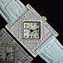 168錶帶配件 /momo購物台熱賣Dilonger水晶鑽防水石英錶16mm真牛皮製錶帶