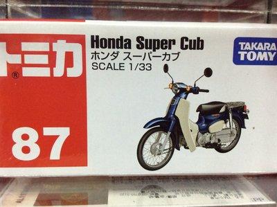 {育聖}麗嬰 正版 TOMICA 多美小汽車  本田 Honda Super Cub 摩托車 TM087A4
