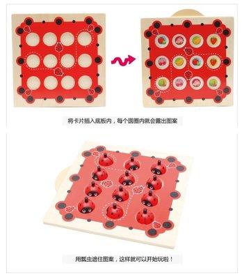 【晴晴百寶盒】木製可愛瓢蟲記憶配對遊戲 親子早教 益智遊戲玩具 平價促銷 生日禮物 平價促銷 P094