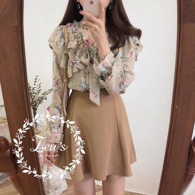 【ZEU'S】韓國春夏新款氣質甜美雪紡衫『 03119610 』【現+預】C
