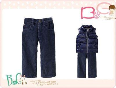 【B& G童裝】正品美國進口OLD NAVY Straight-Leg Cords 深藍色燈芯絨長褲18-24mos