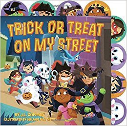 *小貝比的家*TRICK OR TREAT ON MY STREET/硬頁書/3~6歲/萬聖節