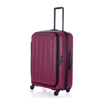 【趣買Cheaper】LOJEL C-F1398 HATCH可擴充拉鍊箱-紫紅色(27吋行李箱)(免運)