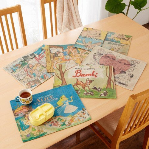 迪士尼Diseny~復古與經典設計餐墊~愛麗絲 小鹿斑比 小飛象 小飛俠 白雪公主~日本正品~共6款~心心小舖預購