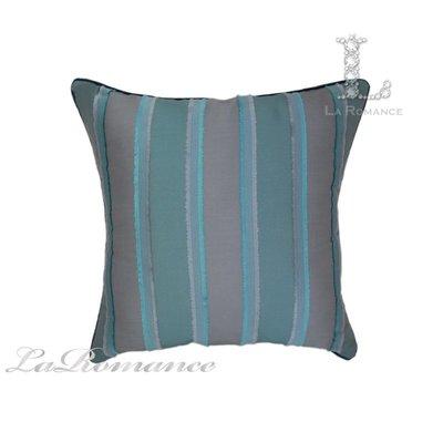 【芮洛蔓 La Romance】現代時尚系列藍綠色立體條紋抱枕 / 靠枕 / 靠墊 / 方枕