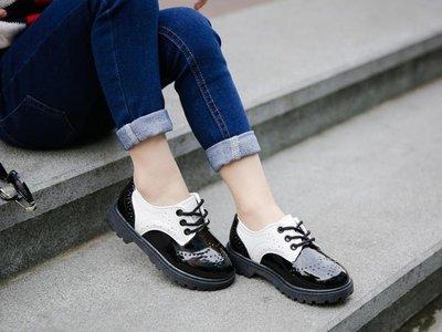 小皮鞋 2018春夏季新款兒童學生表演鞋男童黑色皮鞋小男孩英倫風演出單鞋 WE699
