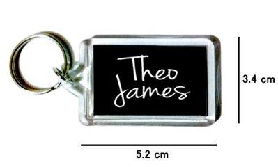 〈可來圖訂做-鑰匙圈〉Theo James 席歐詹姆斯 壓克力雙面鑰匙圈 (可當吊飾)