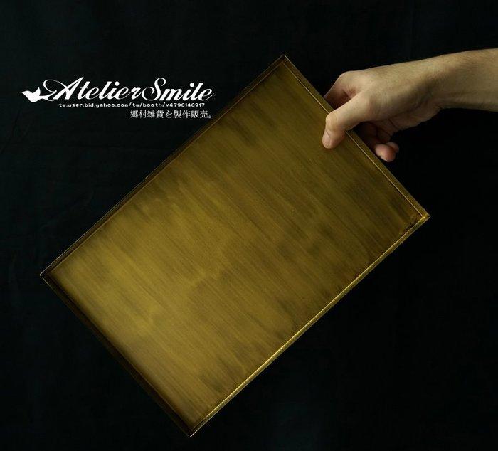 [ Atelier Smile ] 鄉村雜貨  北歐風 長形桌邊收納托盤 復古幾何金屬果盤 # 大長方盤 (現+預)